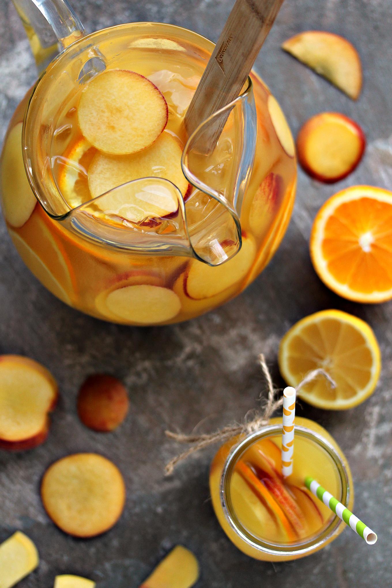 how to make a peach sangria recipe