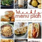 Weekly Meal Plan Week 25 collage image.