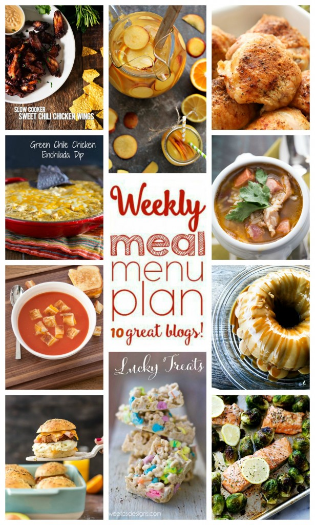 Weekly Meal Plan Week 29 - 10 great bloggers bringing you a full week of recipes including dinner, sides dishes, and desserts! Visit cravingsofalunatic.com for more great meal planning ideas. (@CravingsLunatic)