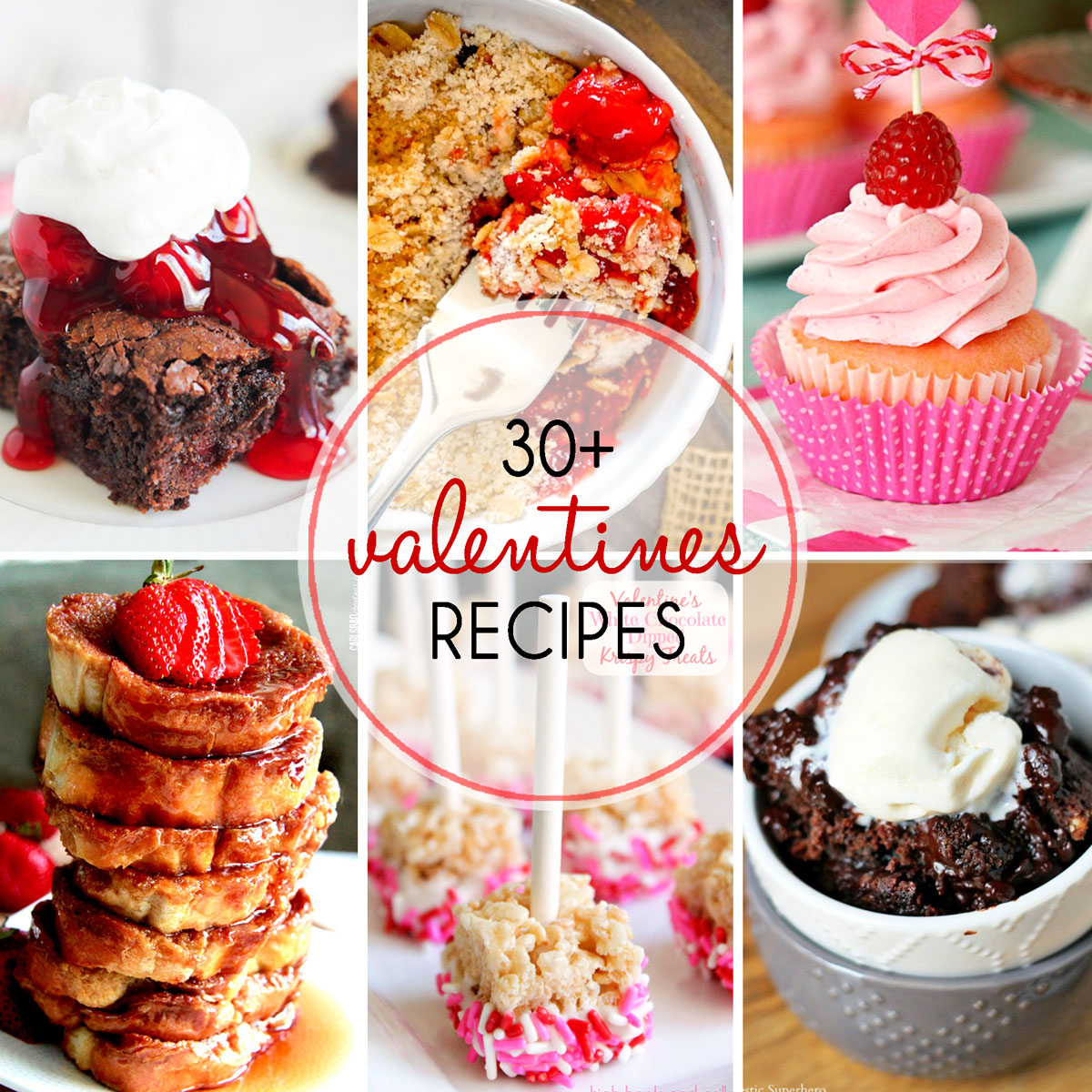 Sweet desserts perfect for date night, Valentine's Day, or just a romantic night curled up on the couch with your true love, Netflix. Enjoy! Find more sweet recipes on cravingsofalunatic.com! You'll find my conversation heart cakelets on my blog too! @CravingsLunatic)