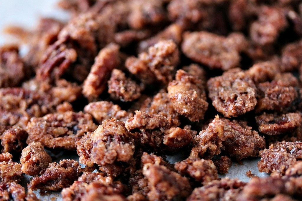 Cinnamon Pecans close up image.