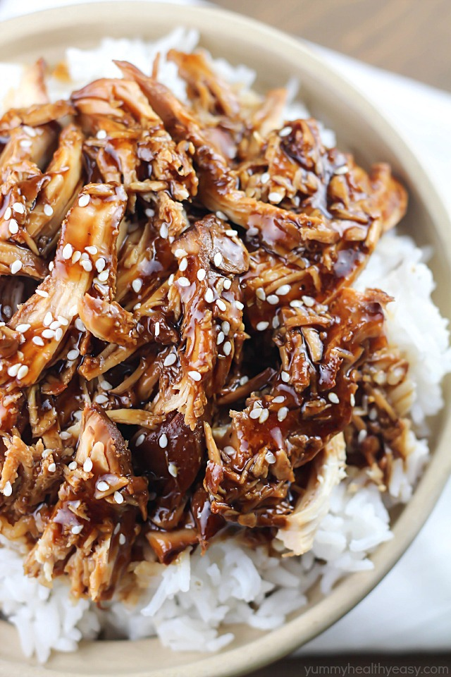 Crock Pot Teriyaki Chicken – Yummy Healthy Easy, featured on cravingsofalunatic.com for our Slow Cooker Recipe Round Up Collaboration. (@CravingsLunatic)