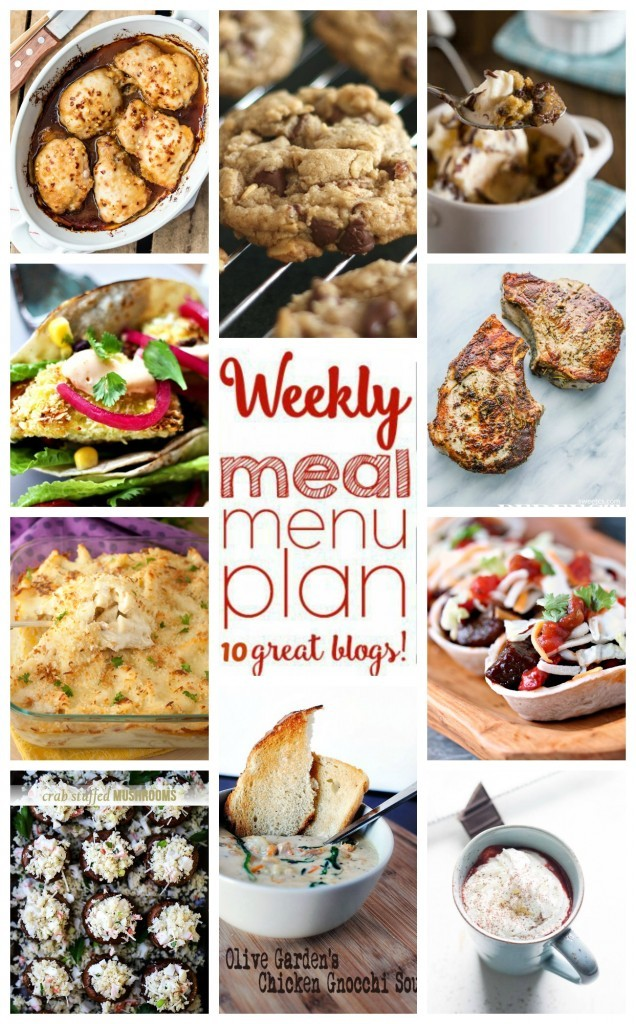 meal plan collage photo featuring various recipe photos