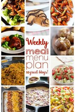 Weekly Meal Plan Week 31 collage image