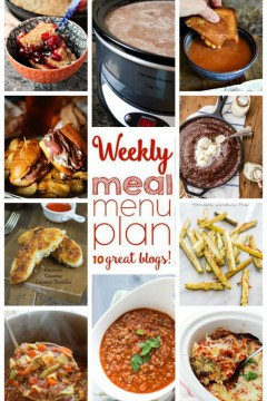 Weekly Meal Plan: Week 32 from cravingsofalunatic.com- 10 great bloggers bringing you a full week of recipes including dinner, sides dishes, and desserts! (@CravingsLunatic)