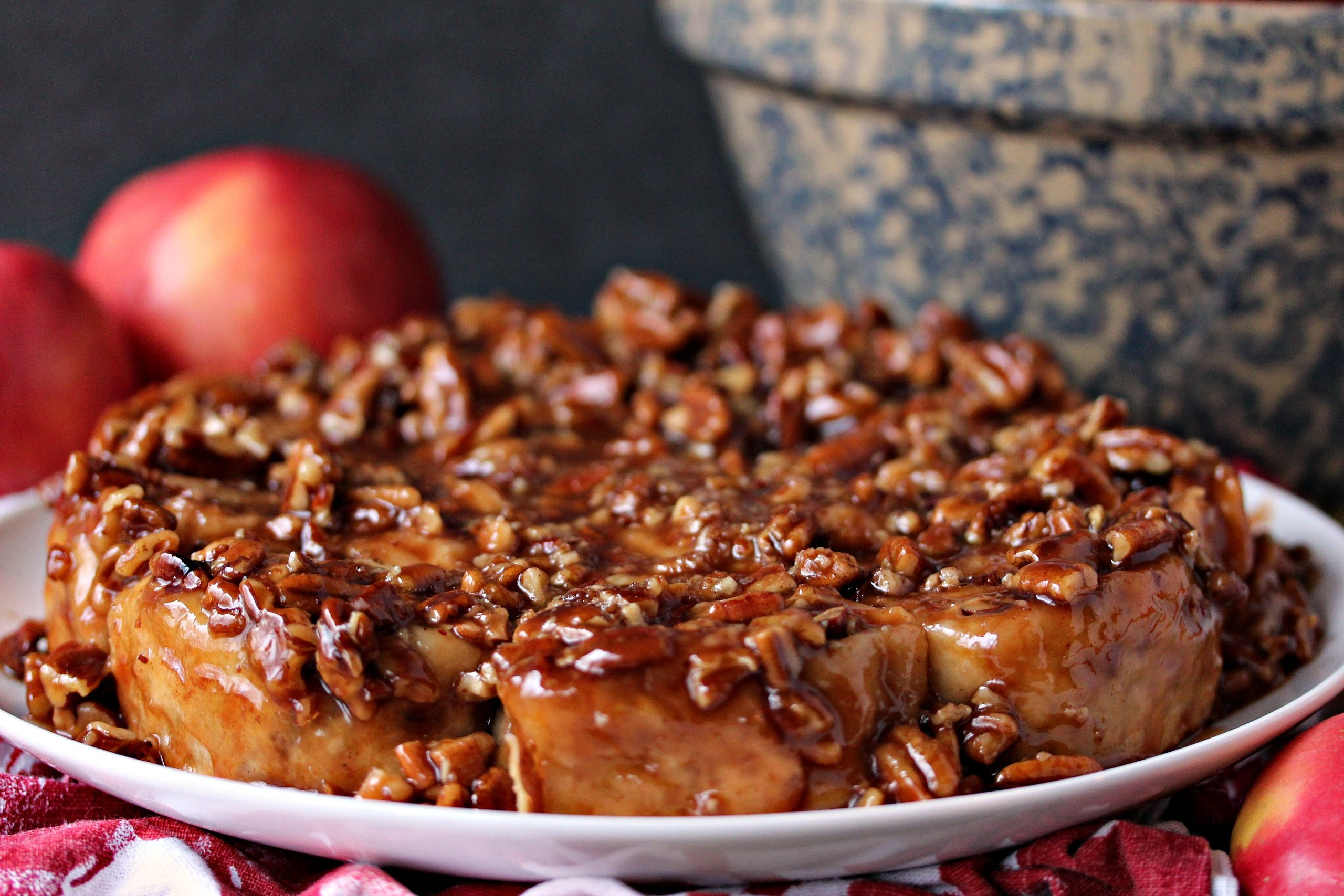 This sticky bun recipe perfectly combines apples, pecans and caramel for the most amazing breakfast you will ever eat.