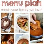 Weekly Meal Plan Week 32 collage image.