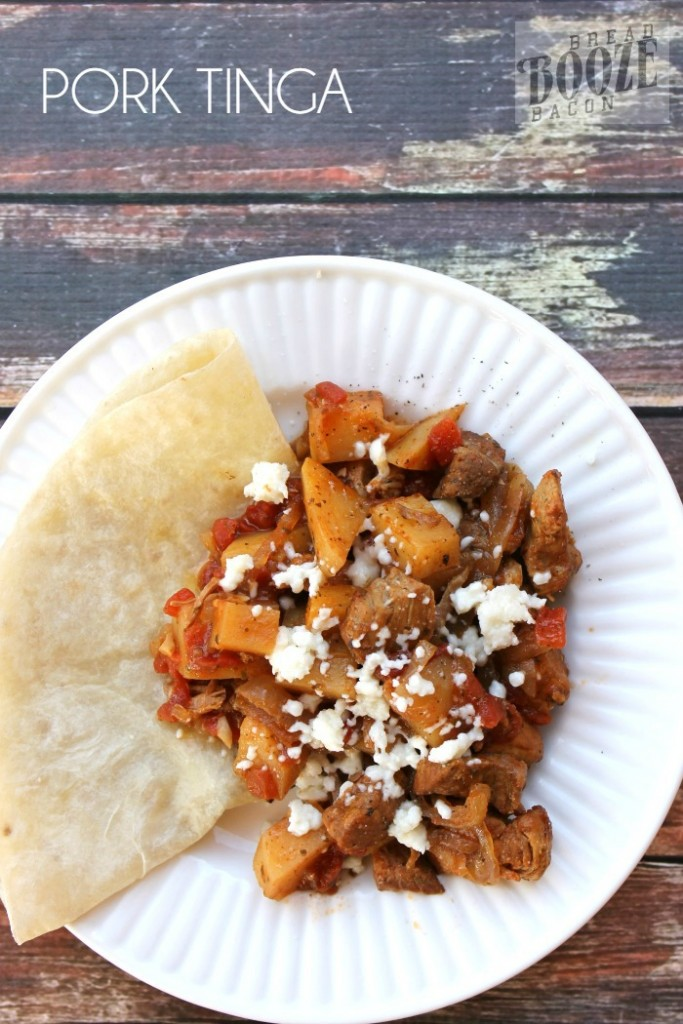 Pork Tinga – Bread Booze Bacon, featured on cravingsofalunatic.com for our Slow Cooker Recipe Round Up Collaboration. (@CravingsLunatic)