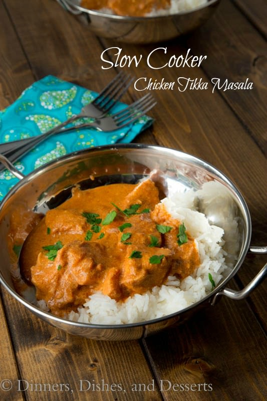 Slow Cooker Tikka Masala from Dinners, Dishes, and Desserts, featured on cravingsofalunatic.com for our Slow Cooker Recipe Round Up Collaboration. (@CravingsLunatic)