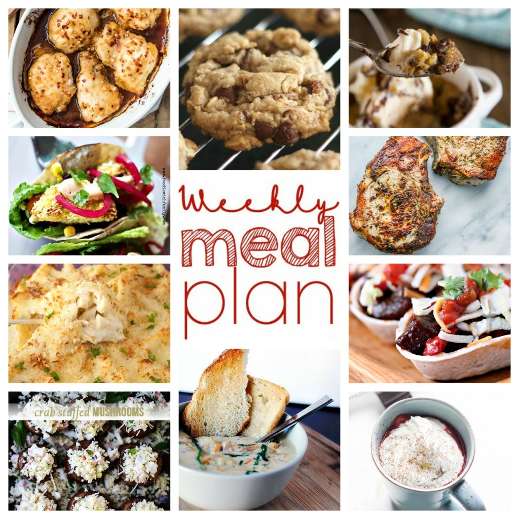 Weekly Meal Plan Week 30 found on cravingsofalunatic.com- 10 great bloggers bringing you a full week of recipes including dinner, sides dishes, and desserts! (@CravingsLunatic)