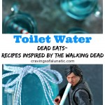 Toilet Water Drink Recipe from cravingsofalunatic.com for Dead Eats: Recipes Inspired by The Walking Dead- Freak the heck out of your guests for your next Walking Dead Party by serving them a big old jug of Toilet Water. It's so simple to make! Just a few ingredients and a quick shake for a delicious drink you could drink right out of the bowl! (@CravingsLunatic)