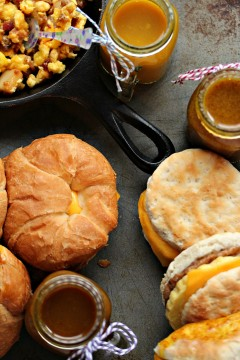 How to Make the BEST Mustard Dipping Sauces for your Breakfast Sandwiches! Honey Dijon Dipping Sauce, Maple Mustard Dipping Sauce, and Honey BBQ Dipping Sauce from cravingsofalunatic.com- Nothing beats a great breakfast to start your day off right. Grab some Jimmy Dean Croissants, Biscuits, or Bowls then give the kids a variety of fun dipping sauces. Fun, fast, and filling! (@CravingsLunatic)
