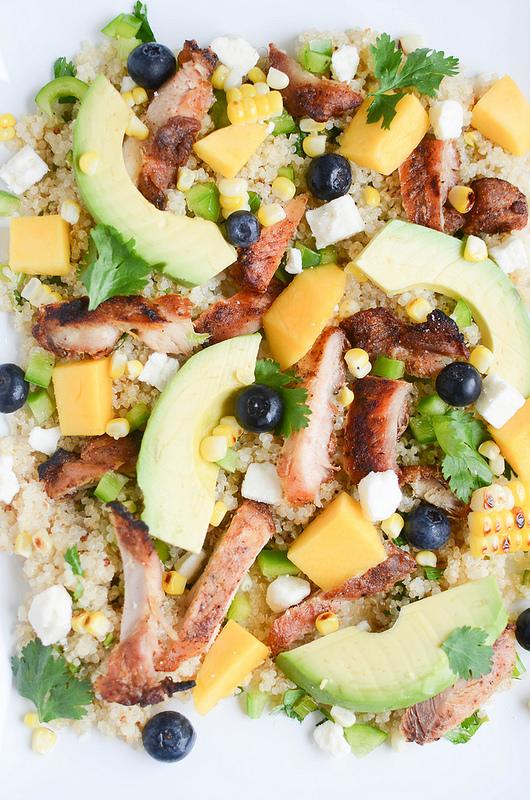 Blackened Chicken & Quinoa Salad - Fake Ginger