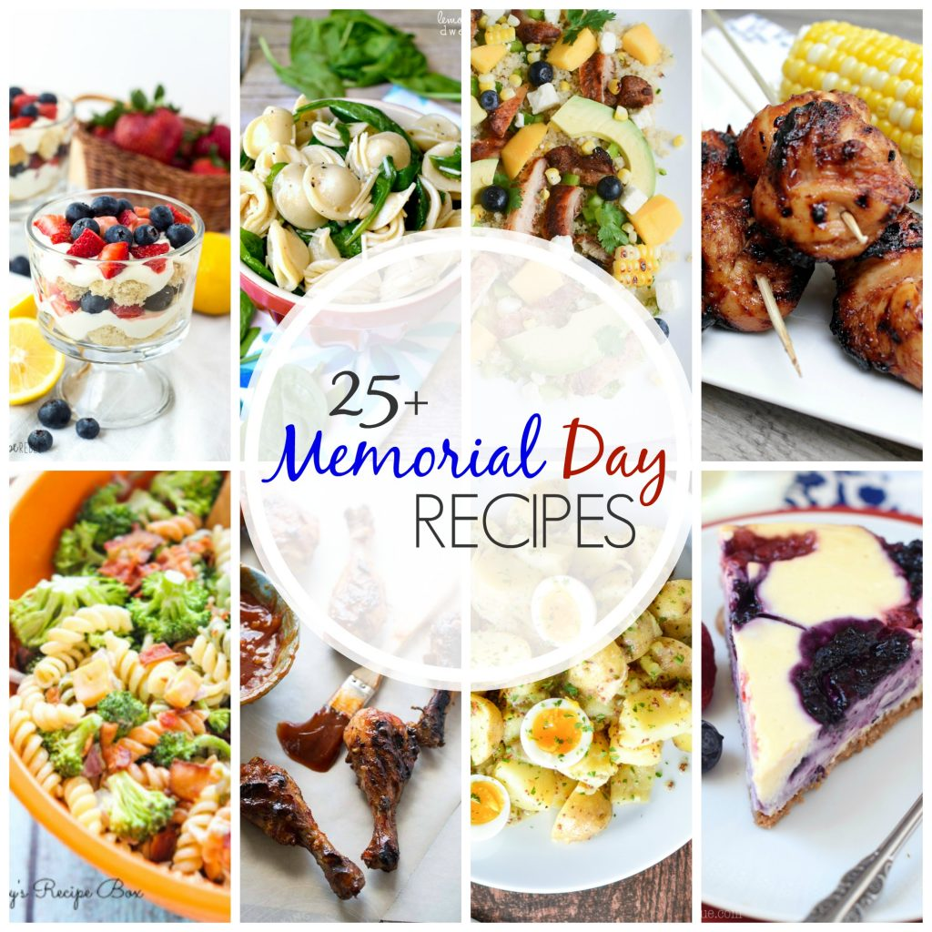25 + Memorial Day Recipes that are perfect for your holiday weekend! Find more recipes on cravingsofalunatic.com. (@CravingsLunatic)