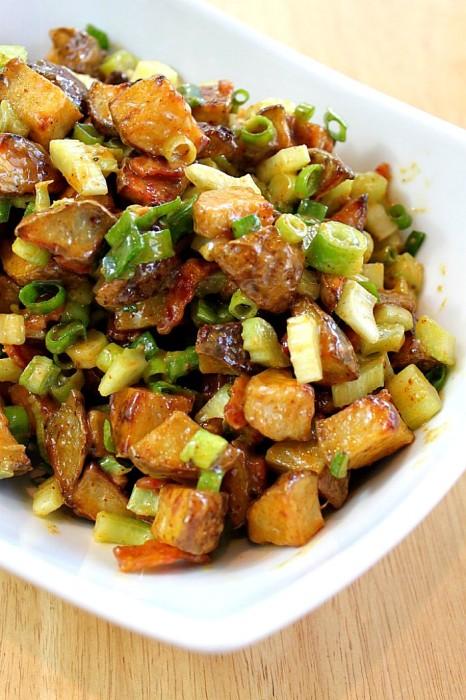 No Mayo Roasted Potato Salad – The Love Nerds