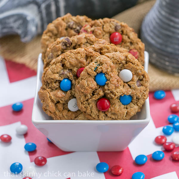 Patriotic Monster Cookies – That Skinny Chick Can Bake