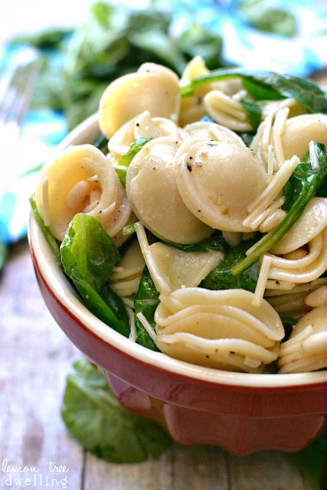 Spinach, Pine Nut & Parmesan Pasta Salad – Lemon Tree Dwelling