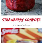 3 Ingredient Strawberry Compote Pinterest Collage Image tt