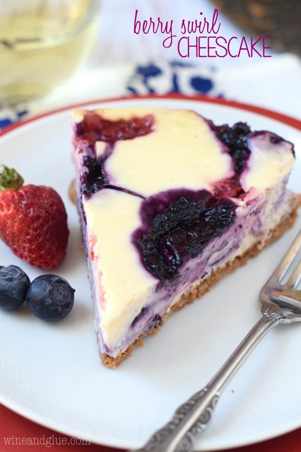 Berry Swirl Cheesecake - Wine & Glue