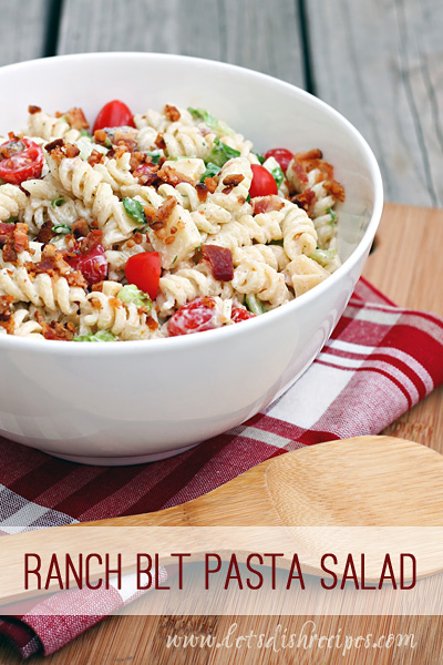 Ranch BLT Pasta Salad – Let's Dish