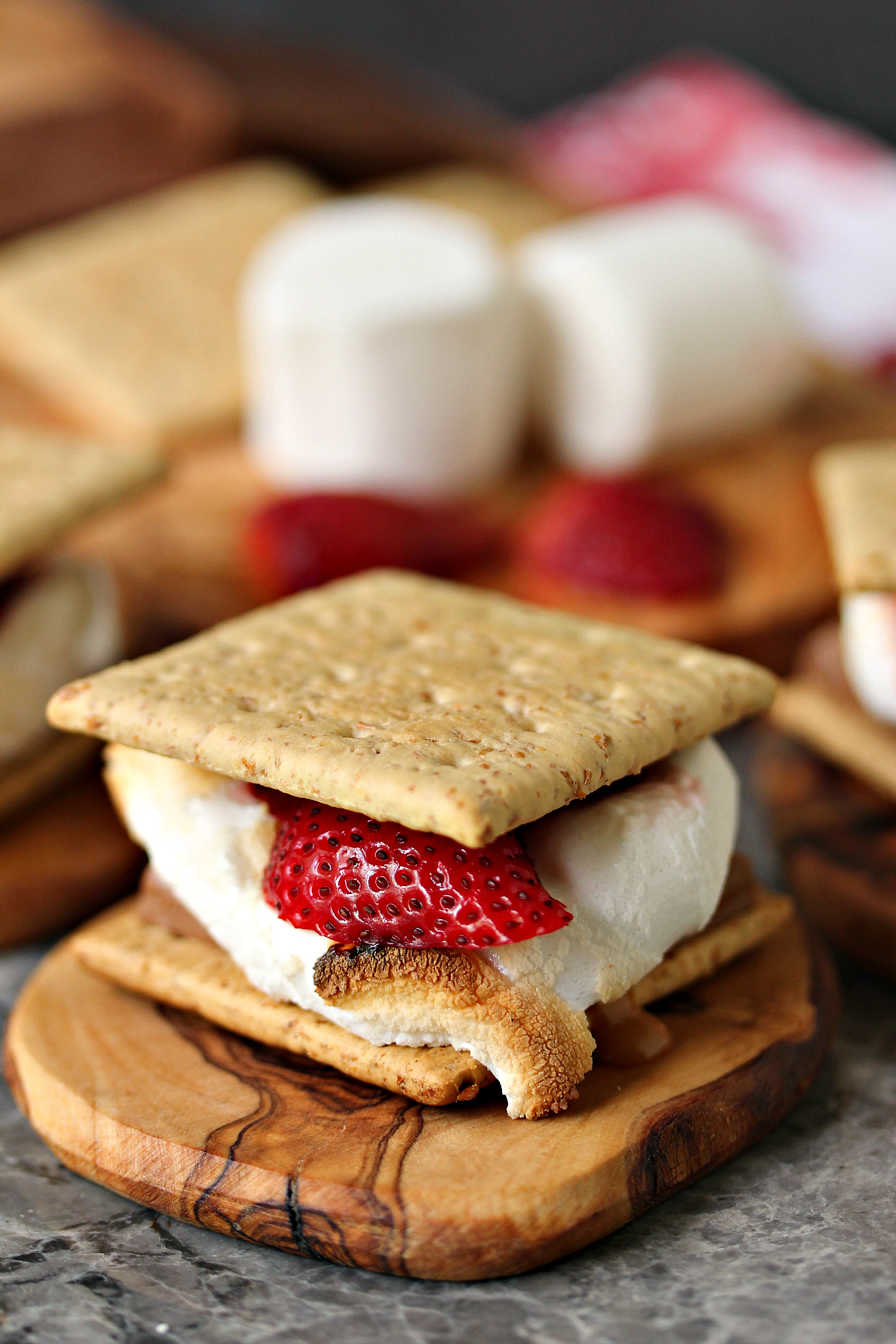 Grilled Strawberry And Caramel S Mores