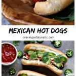 These hot dogs are grilled to perfection, then topped with jalapeno peppers, salsa, cheese, sour cream and avocados. This recipe is a real crowd pleaser.