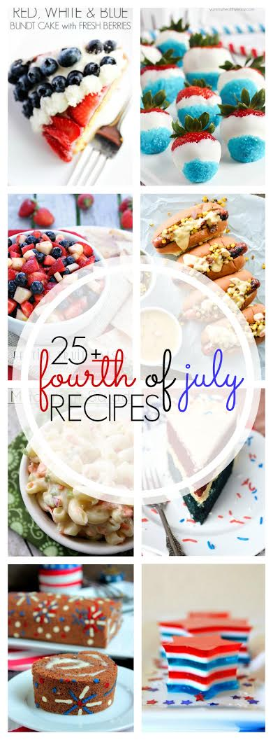 4th of July Recipe Round Up on cravingsofalunatic.com- Swing by the blog for lots of holiday inspiration! (@CravingsLunatic)
