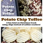 This easy potato chip toffee recipe uses only 5 ingredients and is baked in under 20 minutes. Pop it in the fridge to set up for that perfect crisp toffee snap. Sweet meets salty in the most amazing way!