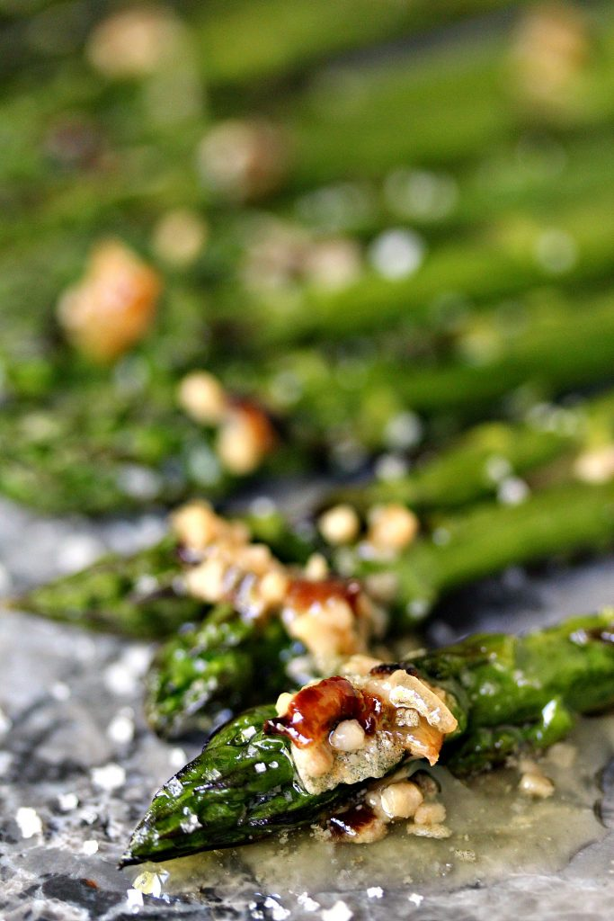 Roasted Asparagus with Lemon, Garlic, and Shallot Butter from cravingsofalunatic.com- Oven roasted asparagus cooked to perfection, then topped with a simple lemon, garlic and shallot butter. Simply delicious and perfect for any night of the week! (@CravingsLunatic)