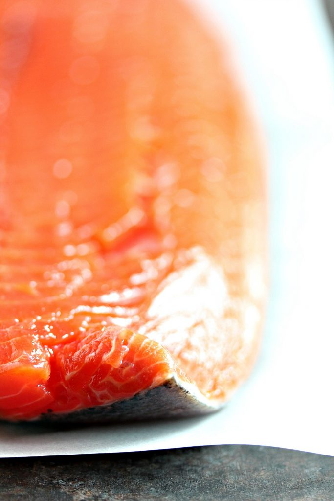 Sockeye Salmon ready to be grilled