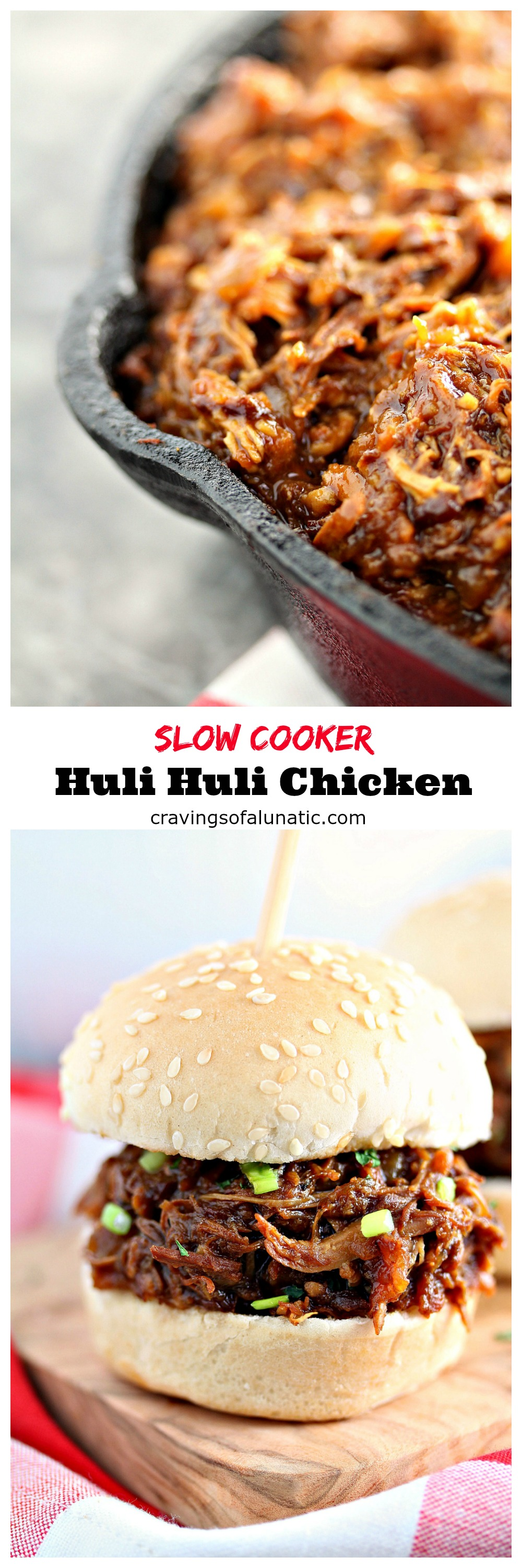 This Slow Cooker Huli Huli Chickenis the ultimate set it and forget it recipe. The flavour is so intense that it's hard to believe howeasy this is to make. This will become your family's favourite chicken recipe!