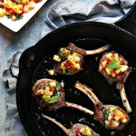 Lamb Lollipops with Peach Salsa