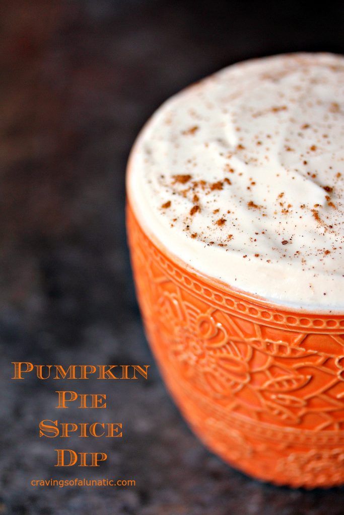 Pumpkin Pie Spice Dip from cravingsofalunatic.com- This Pumpkin Pie Spice Dip Recipe is incredibly easy to make and perfect for Fall parties.