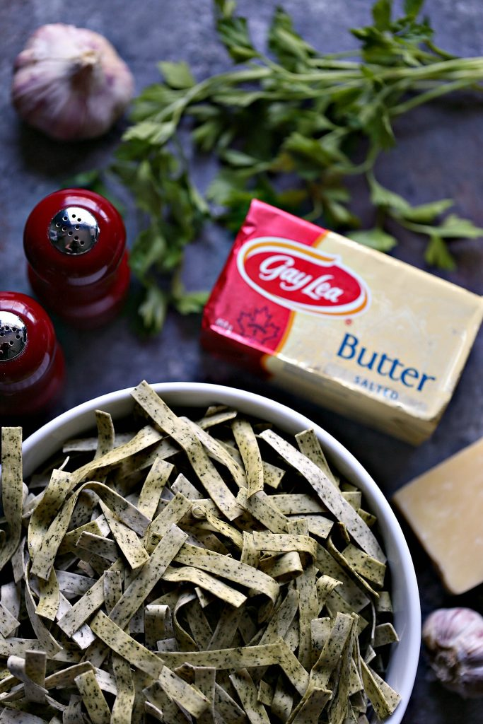 Brown Butter Garlic Parmesan Pasta from cravingsofalunatic.com- This recipe is quick and easy to make. The flavour from the brown butter blends perfectly with the garlic in this pasta. Toss fresh parmesan to your heart's content. @CravingsLunatic