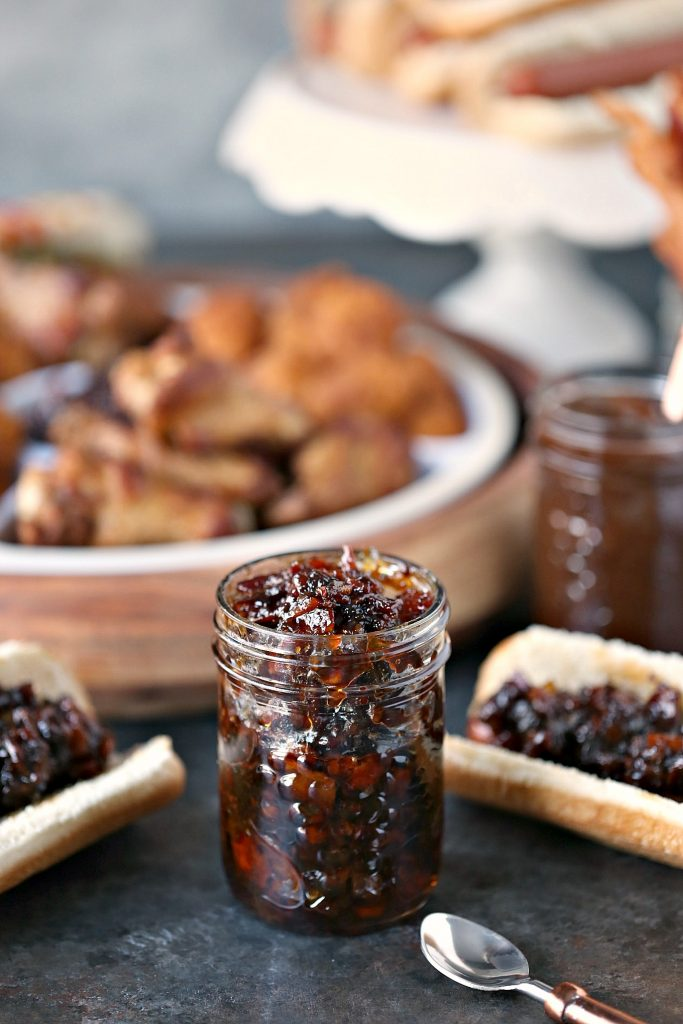 Bacon Jam from cravingsofalunatic.com- This easy recipe for Bacon Jam is perfect for all your tailgating needs. Chock full of bacon, onion, garlic and sweet heat. This is a must make for game season!