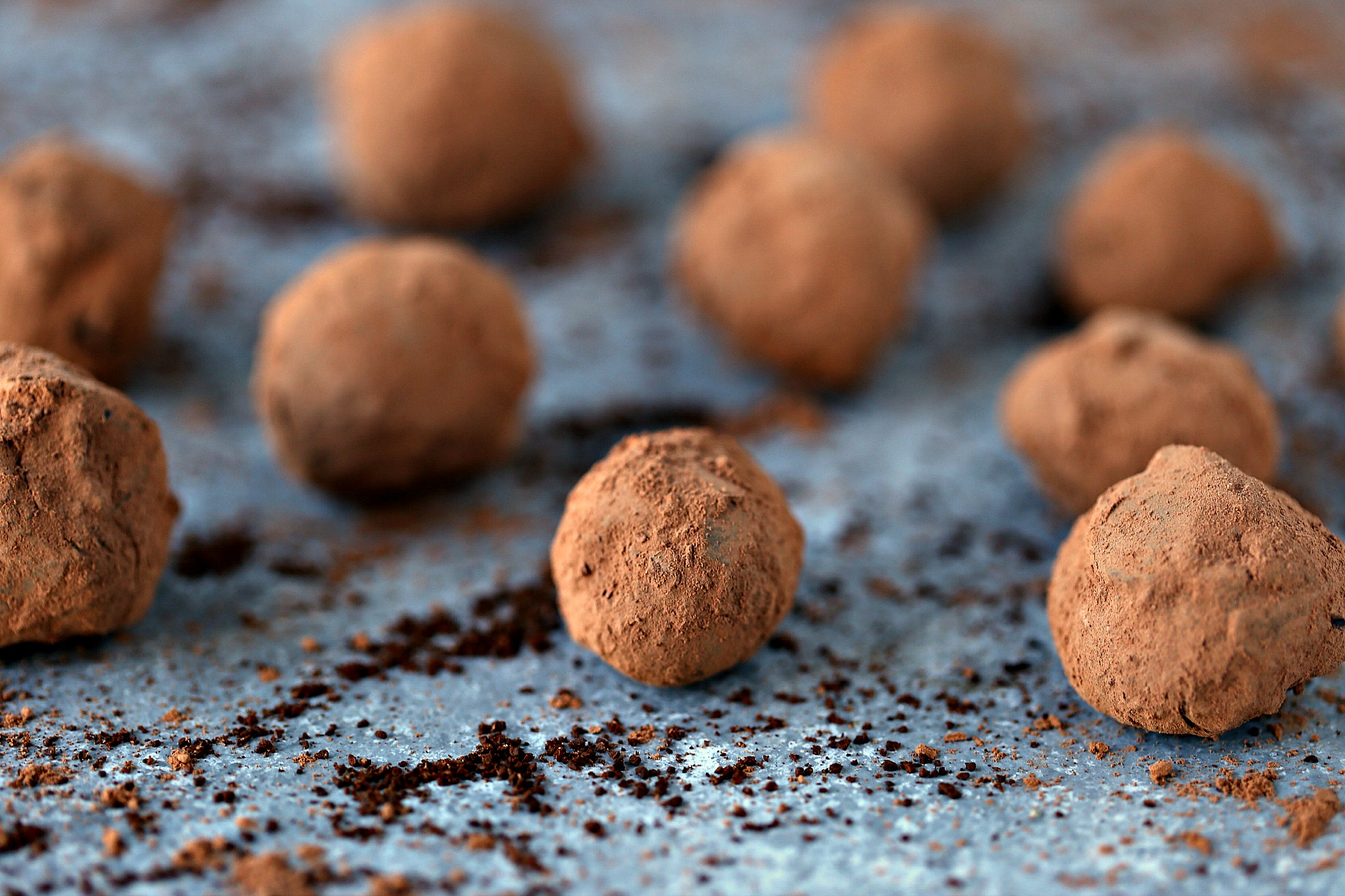 Chocolate Coffee Truffles from cravingsofalunatic.com- These Chocolate Coffee Truffles use dark chocolate and bulletproof coffee for an elevated taste. They are little spheres of chocolate and coffee happiness. Mocha lovers unite.