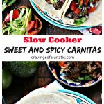Sweet and Spicy Slow Cooker Carnitas collage image