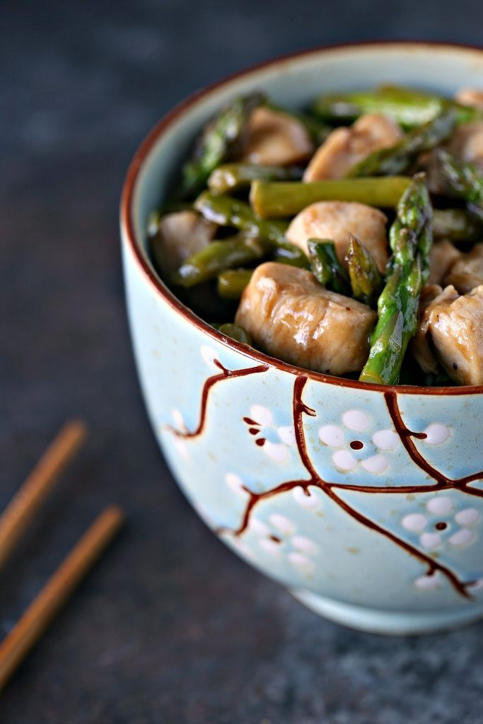 Chicken and Asparagus Stir-Fry with Lemon from cravingsofalunatic.com- This quick and easy recipe for Chicken and Asparagus Stir-Fry with Lemon is a flavour explosion. Simple ingredients cooked in one pan. No muss, no fuss.