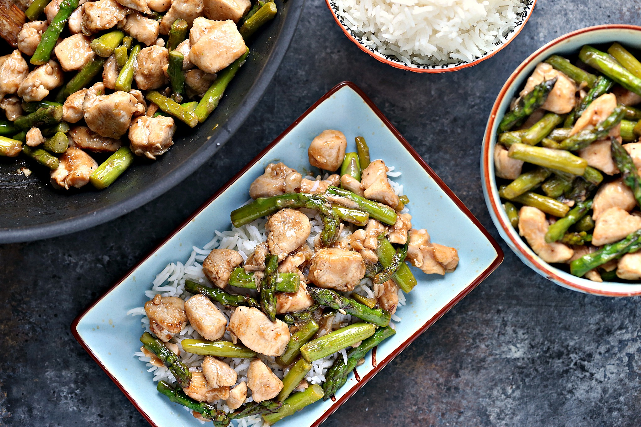 This quick and easy recipe for Chicken and Asparagus Stir-Fry with Lemon is a flavour explosion. Simple ingredients cooked in one pan. No muss, no fuss.