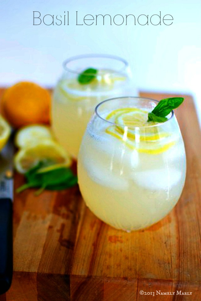 Basil Lemonade from Namely Marly- featured on The Best Lemonade Recipes by cravingsofalunatic.com- Spend your summer sipping all The Best Lemonade Recipes you can get your hands on. Summer is all about refreshing beverages so make the most of it!