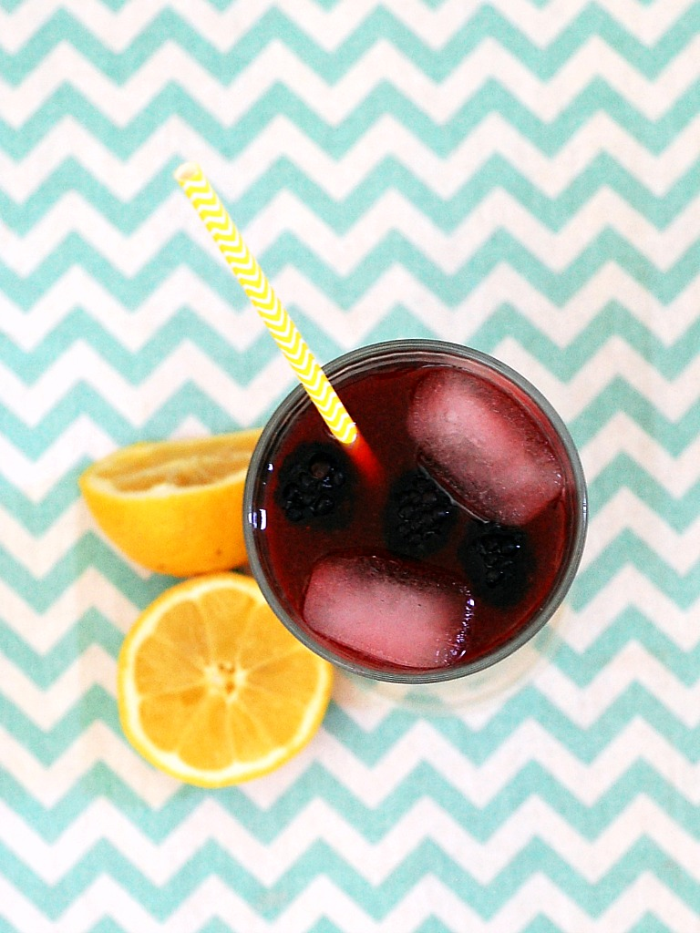 Blackberry Lemonade from The Redhead Baker- featured on The Best Lemonade Recipes by cravingsofalunatic.com- Spend your summer sipping all The Best Lemonade Recipes you can get your hands on. Summer is all about refreshing beverages so make the most of it!