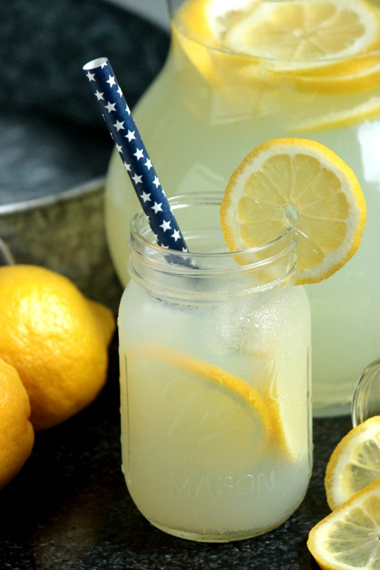 Homemade Lemonade from Big Bear's Wife- featured on The Best Lemonade Recipes by cravingsofalunatic.com- Spend your summer sipping all The Best Lemonade Recipes you can get your hands on. Summer is all about refreshing beverages so make the most of it!