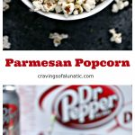 Parmesan Popcorn Recipe from cravingsofalunatic.com- Enjoy a late afternoon treat with this Parmesan Popcorn recipe. Air-popped popcorn topped with parmesan cheese and dried parsley. Perfect for an afternoon treat!