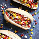 Grilled Beer Brats with Boozy Salsa