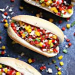 Grilled Beer Brats with Boozy Salsa. Fire up your grill this weekend and make these amazing grilled beer brats. Top with boozy salsa filled with bell peppers, onions, shallots, jalapeño peppers and garlic.