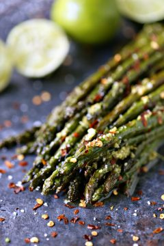 Skillet Asparagus with Lime Butter