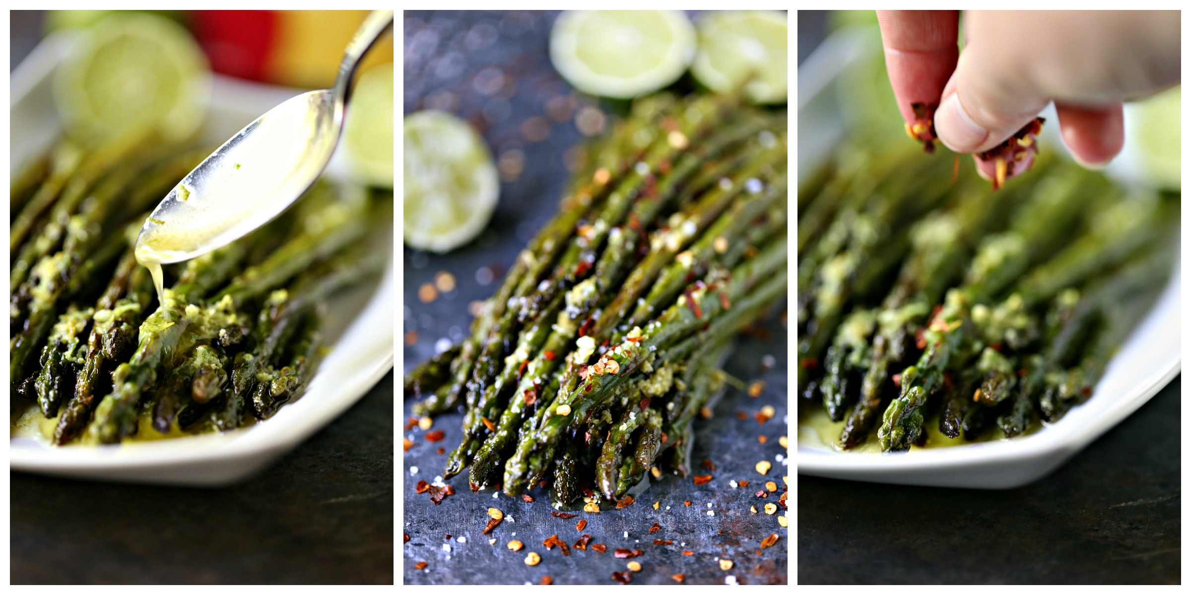 "Skillet Asparagus with Lime Butter from cravingsofalunatic.com- Asparagus season is full swing so enjoy every minute of it. This skillet asparagus is a quick and tasty side dish that will get rave reviews. My family voted it the ""Best Asparagus Ever""!"