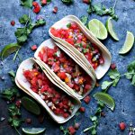 Grilled Honey Lime Chicken Tacos with Watermelon Salsa