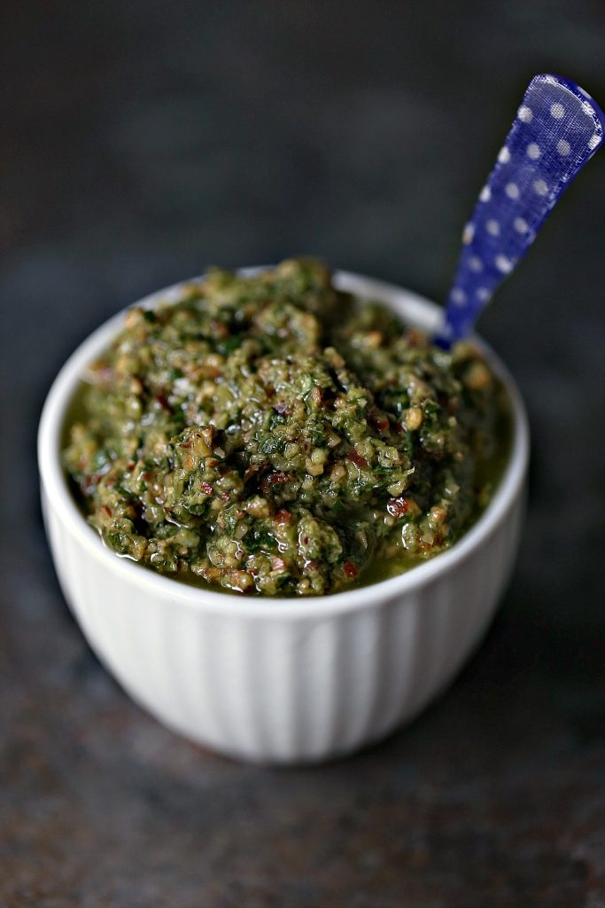 Basil Pesto for Grilled Chicken Sandwich with Basil Pesto is an easy recipe that will delight your tastebuds. It's piled high with vegetables, chicken, cheese, and pesto.