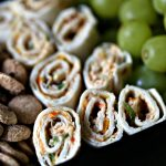 Chicken Fajita Mini Roll Ups {Pinwheels) from cravingsofalunatic.com- These chicken fajita roll ups are tiny in size but big on flavour! These are perfect to pack in lunches or to use as appetizers for parties.